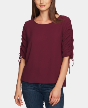 1.state Blouses RUCHED-SLEEVE TOP