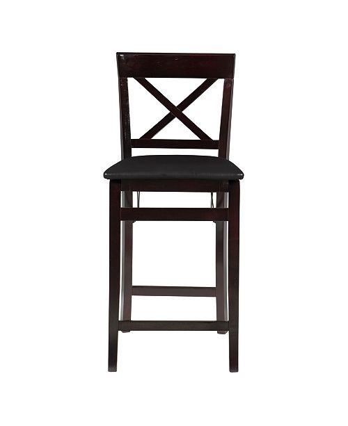 Excellent Triena X Back Folding Counter Stool Machost Co Dining Chair Design Ideas Machostcouk