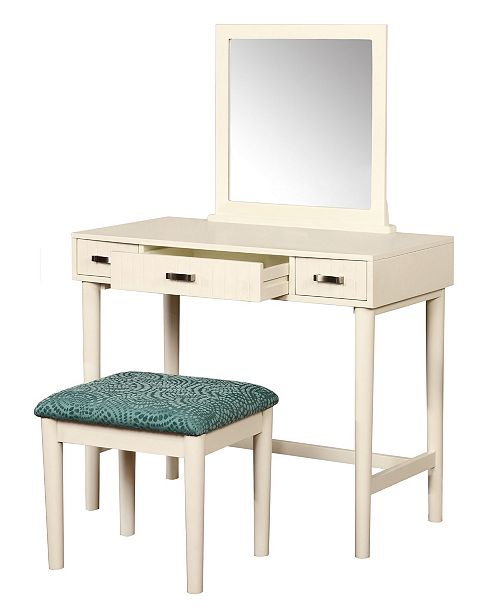 Linon Home Décor Garbo Vanity Set With Bench And Mirror