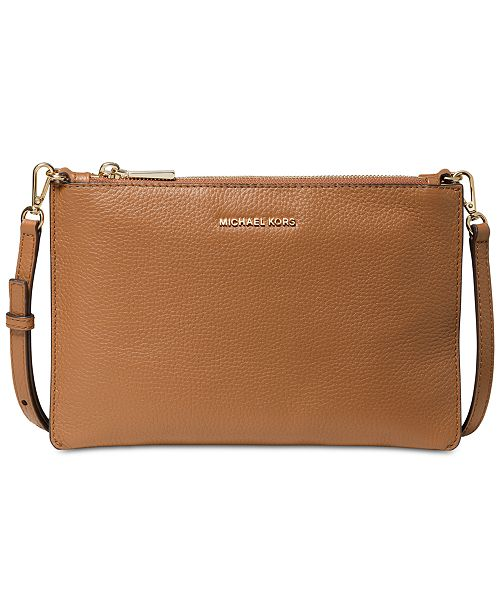 Michael Kors Pebble Leather Double Pouch Crossbody