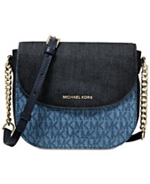 bd9dce1f5a04fa MICHAEL Michael Kors Signature Denim Half Dome Crossbody, Created for Macy's