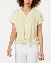 f63b51fc5e2 Style   Co Textured Tie-Hem Shirt