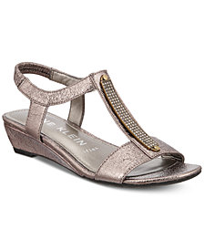 Anne Klein Melessa Embellished Wedge Sandals