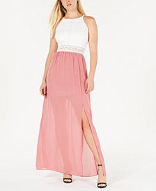 BCX Juniors' Halter-Neck Maxi Dress