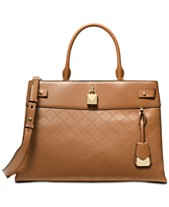 MICHAEL Michael Kors Gramercy Chain Embossed Leather Satchel a2d4a6d5f6