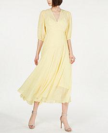 Calvin Klein Shadow-Stripe Maxi Dress