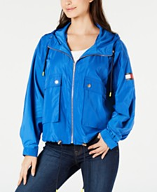 Tommy Hilfiger Oversized Drawstring-Hem Jacket, Created for Macy's