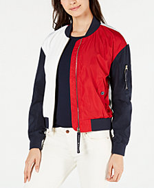 Tommy Hilfiger Colorblocked Bomber Jacket, Created for Macy's