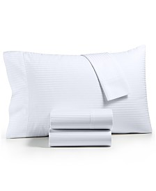 CLOSEOUT! Dobby Stripe 4-Pc Queen Sheet Set, 600 Thread Count, 100% Cotton