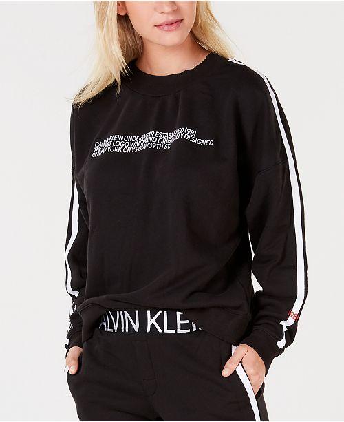 71a00c7dc2b Calvin Klein Statement 1981 Long Sleeve Logo Sweatshirt   Reviews ...