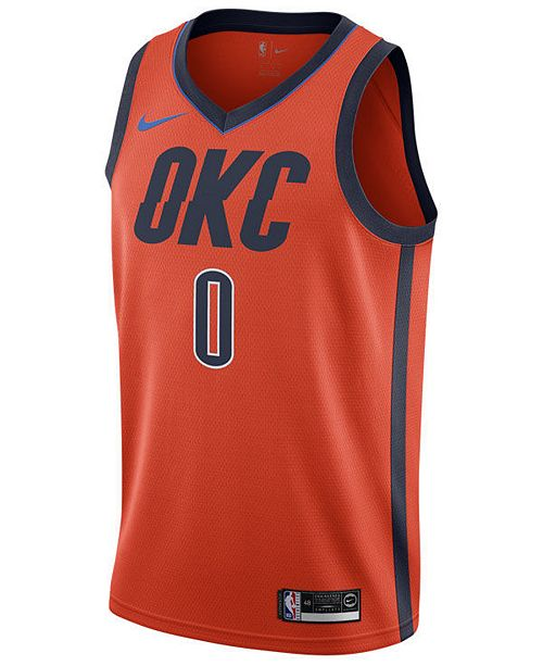 wholesale dealer 42539 65835 Men's Russell Westbrook Oklahoma City Thunder Earned Edition Swingman Jersey