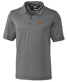 Cutter & Buck Men's Iowa State Cyclones Cascade Melange Stripe Polo