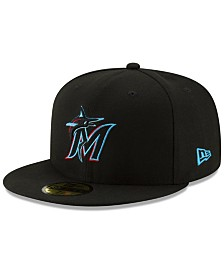 New Era Boys' Miami Marlins Authentic Collection 59FIFTY Fitted Cap