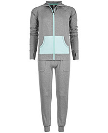 Ideology Big Girls Mesh-Pocket Hooded Jacket &  Knit Jogger Pants, Created for Macy's