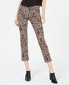 Nico Animal-Print Ankle Skinny Jeans