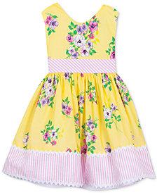 Rare Editions Little Girls Floral-Print Dress