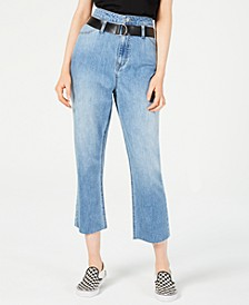High-Rise 4-Pocket Capri Jeans