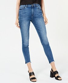 DL 1961 Farrow Frayed High-Rise Skinny Jeans