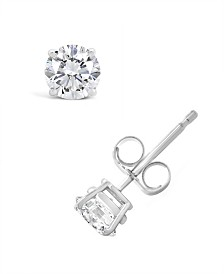 Certified Round Diamond Stud Earrings (3/4 ct. t.w.) in 14k White Gold or Yellow Gold