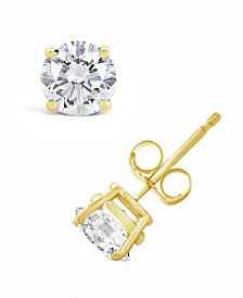 Certified Round Diamond Stud Earrings (1 3/8 ct. t.w.) in 14k White Gold or Yellow Gold
