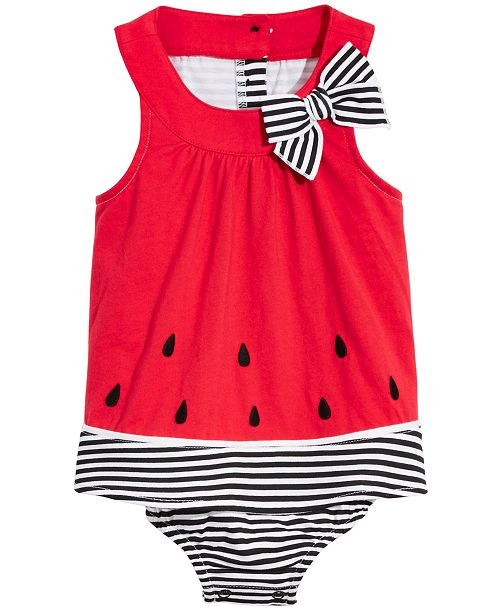 First Impressions Baby Girls Watermelon Cotton Sunsuit, Created for Macy's