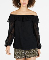 44c1eb8affea8 MICHAEL Michael Kors Off-The-Shoulder Embroidered Top