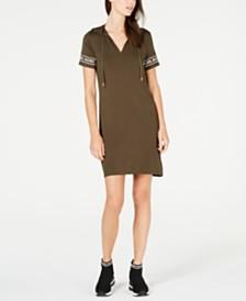 9825b5b6d386 MICHAEL Michael Kors MKGO Logo-Sleeve Hoodie Dress