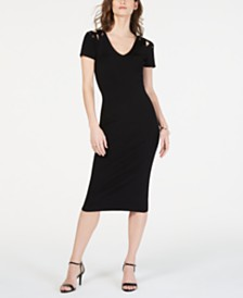 e7652dbfba8 Michael Kors Crossover Sweater Dress   Reviews - Dresses - Women ...