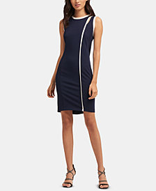 DKNY Piped-Trim Dress, Created for Macy's