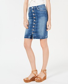 Joe's High-Rise Button-Front Denim Skirt