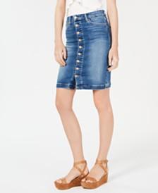Joe's High-Rise Button-Front Denim Skirt
