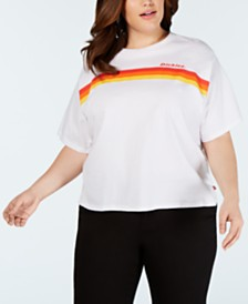 Dickies Trendy Plus Size Logo Stripe Graphic T-Shirt