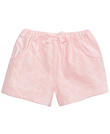 First Impressions Toddler Girls Eyelet Cotton Shorts, Created for Macy's