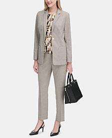 Calvin Klein Textured One-Button Blazer