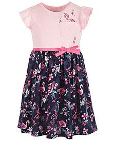 Epic Threads Little Girls Flamingo-Print Dress, Created for Macy's