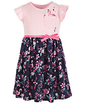Epic Threads Toddler Girls Flamingo-Print Dress, Created for Macy s a490ce673717