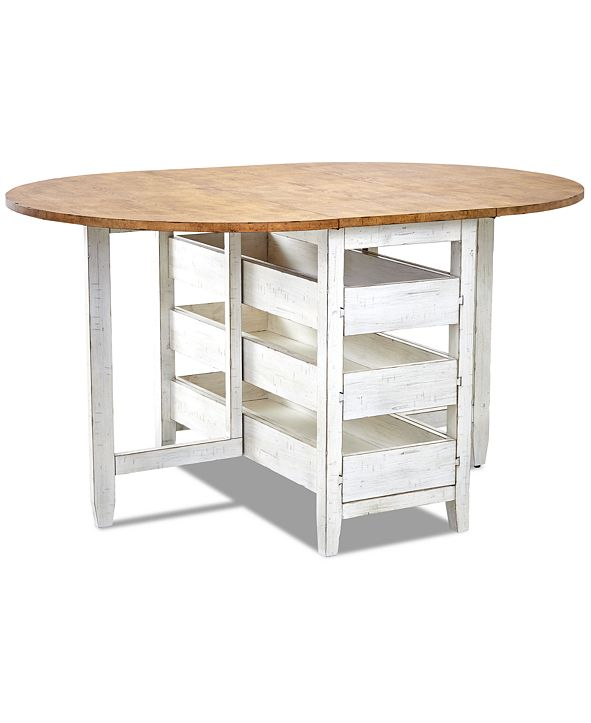 Furniture Neighbors Round Counter Height Drop Leaf Table