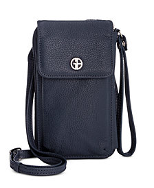 Giani Bernini Softy Leather Tech Crossbody Wallet, Created for Macy's