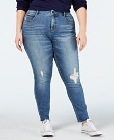 YSJ Plus Size Ripped Skinny Jeans