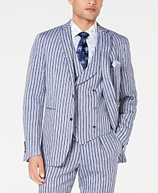 Tallia Men's Slim-Fit Stripe Suit Jacket