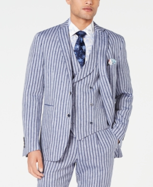 1930s Men's Suits History Tallia Mens Slim-Fit Stripe Suit Jacket $52.96 AT vintagedancer.com