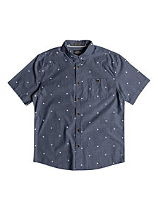Quiksilver Waterman Men's Tribal Markings Short Sleeve Shirt