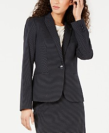 Tommy Hilfiger Dot-Print Blazer, Created for Macy's