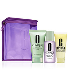 Choose your FREE 3 Step Skincare kit and bag with $85 Clinique purchase!