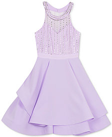 Rare Editions Big Girls Beaded Dress, Created for Macy's