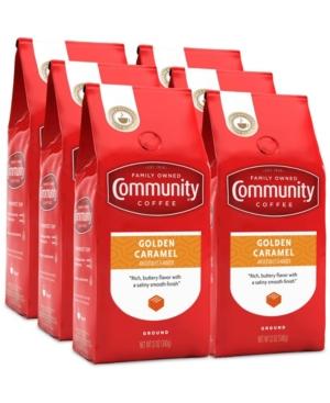 Golden Caramel Medium Roast Premium Ground Coffee, 12 Oz - 6 Pack