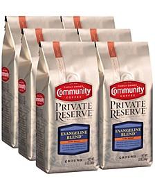 Private Reserve Evangeline Blend Dark Roast Specialty-Grade Ground Coffee, 12 Oz - 6 Pack