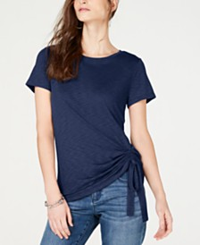 I.N.C. Ruched T-Shirt, Created for Macy's