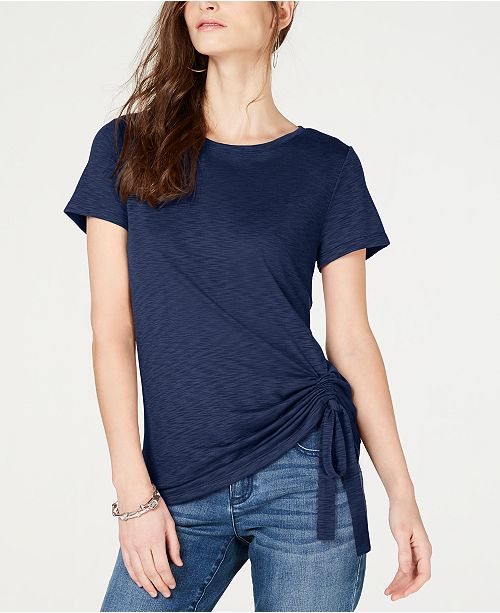 INC International Concepts INC Ruched T-Shirt, Created for Macy's