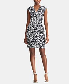 Lauren Ralph Lauren Petite Floral-Print Ruched Dress